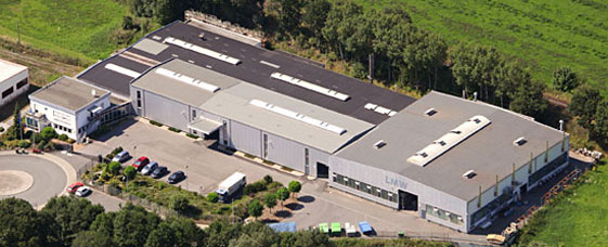 Aerial view of the company area